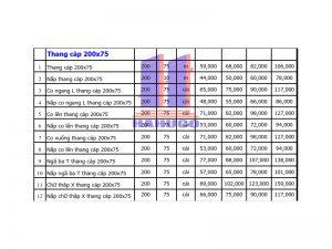 Thang cáp 200x75