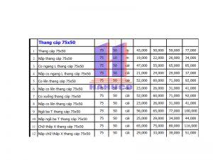 Thang cáp 75x50