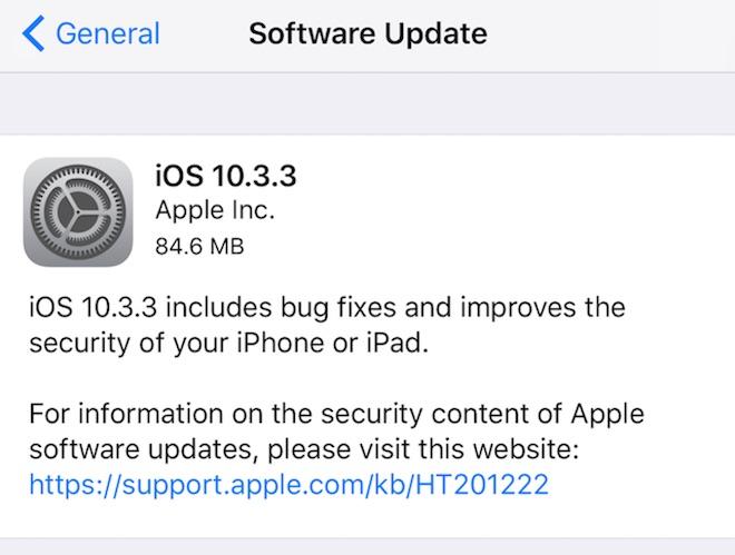 apple khóa ios 10.3.3